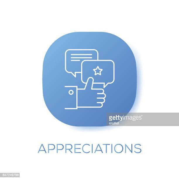appreciations button for mobile app - applauding stock illustrations, clip art, cartoons, & icons
