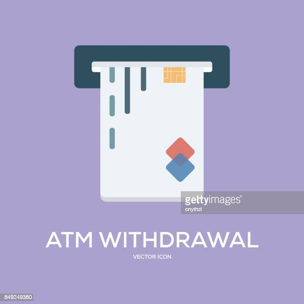 ATM WITHDRAWAL VECTOR ICON