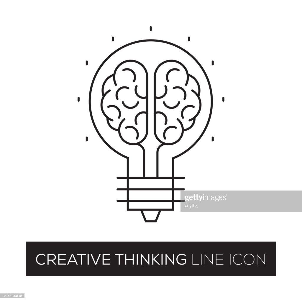 CREATIVE THINKING CONCEPT LINE ICON