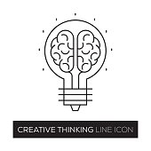CREATIVE THINKING CONCEPT LINE ICON