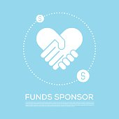 FUNDS SPONSOR CONCEPT VECTOR ICON