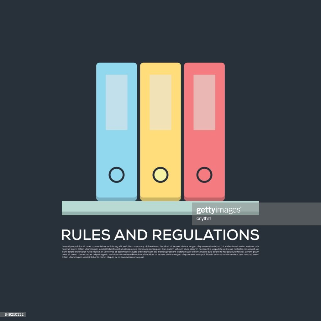 RULES AND REGULATIONS CONCEPT VECTOR ICON : Vector Art