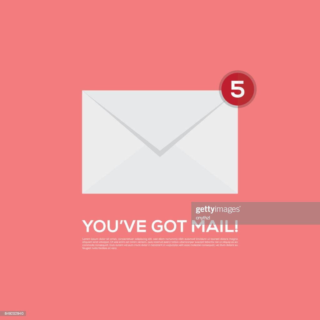 YOU'VE GOT MAIL VECTOR ICON