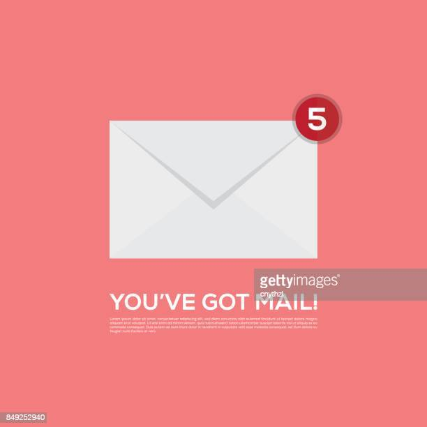 you've got mail vector icon - e mail inbox stock illustrations