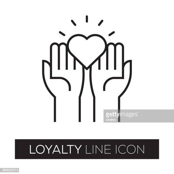 loyalty line icon - loyalty stock illustrations