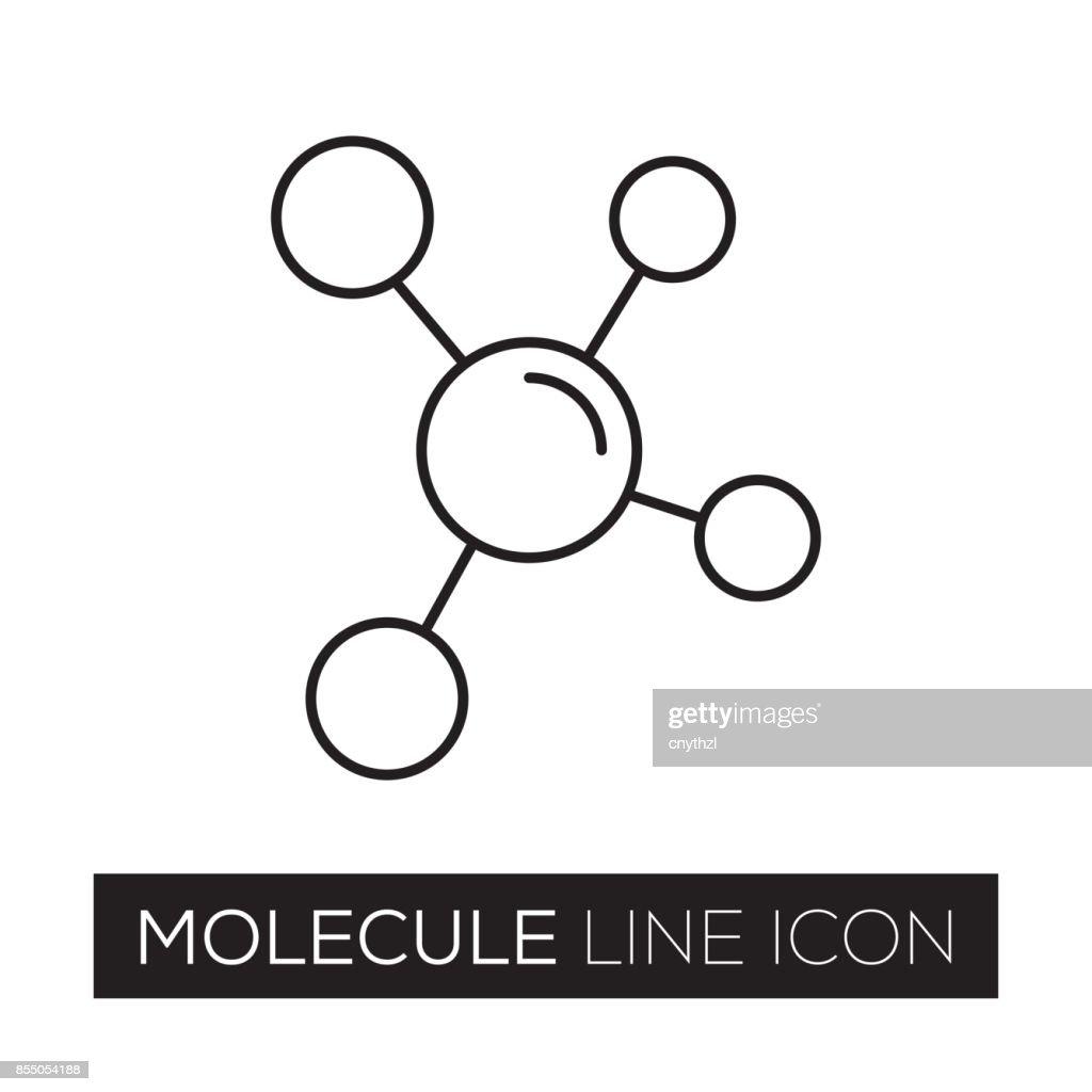 MOLECULE LINE ICON : stock illustration