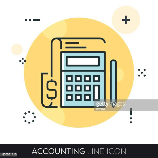 ACCOUNTING LINE ICON