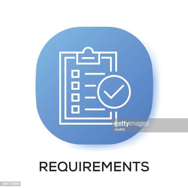 REQUIREMENTS APP ICON