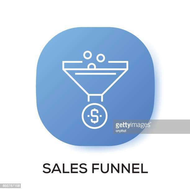 sales funnel app icon - pbs stock illustrations
