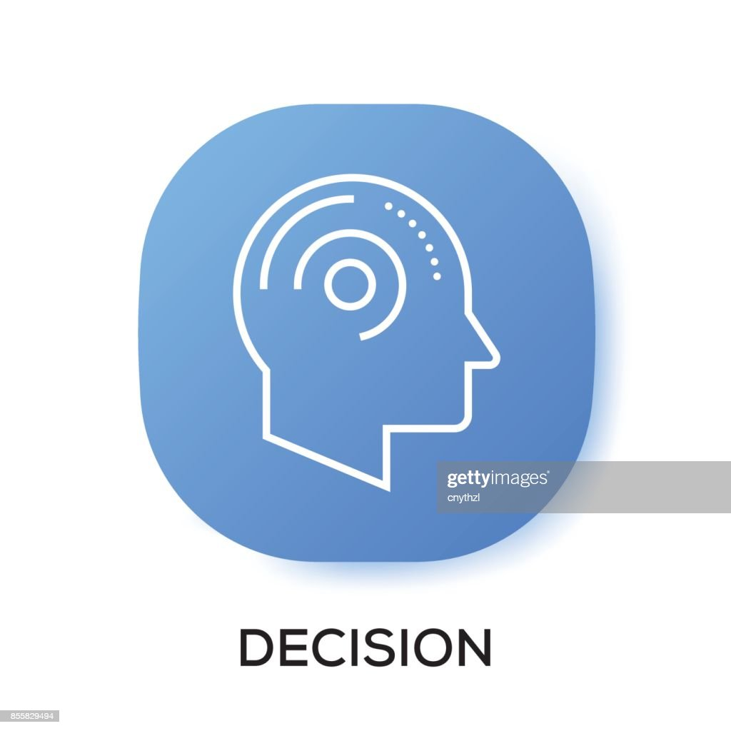DECISION APP ICON : stock illustration