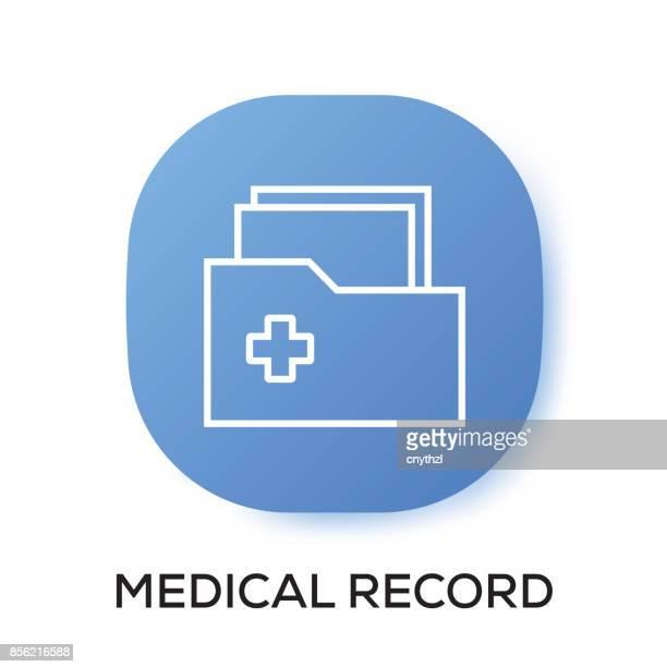 ilustrações, clipart, desenhos animados e ícones de ícone do aplicativo de registro médico - mobile phone