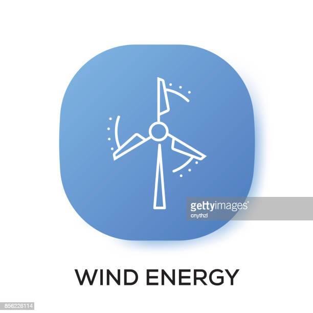 ilustrações, clipart, desenhos animados e ícones de ícone de app de energia de vento - mobile phone