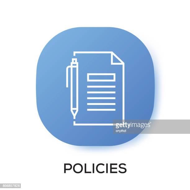 ilustrações, clipart, desenhos animados e ícones de ícone de app de políticas - mobile phone