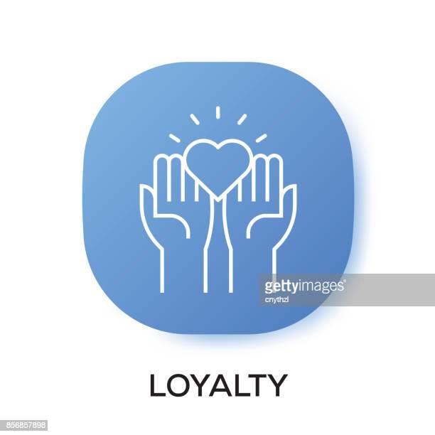 ilustraciones, imágenes clip art, dibujos animados e iconos de stock de icono de la aplicación de lealtad - lealtad