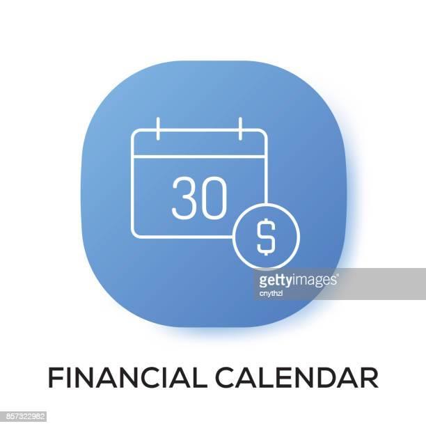 ilustrações, clipart, desenhos animados e ícones de ícone de app de calendário financeiro - mobile phone
