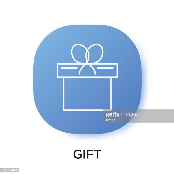 gift app icon - webcam media apparaat stock illustrations