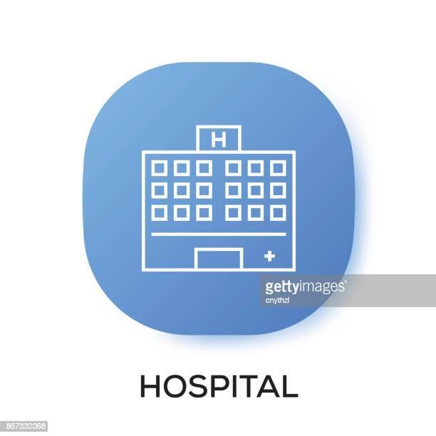 ilustrações, clipart, desenhos animados e ícones de ícone de app de hospital - mobile phone