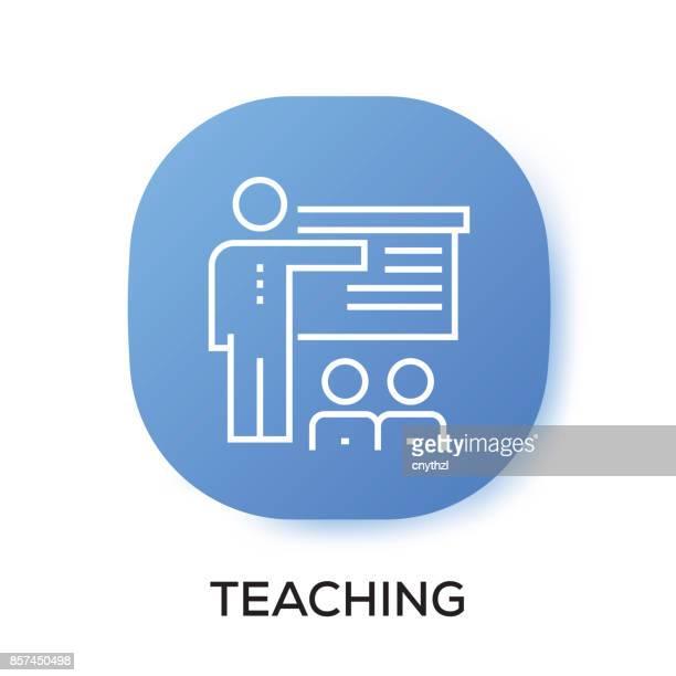 ilustrações, clipart, desenhos animados e ícones de ícone de app de ensino - mobile phone