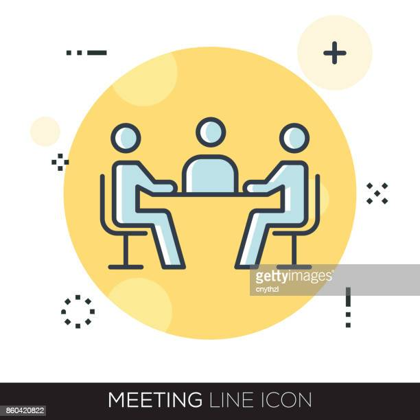 MEETING LINE ICON