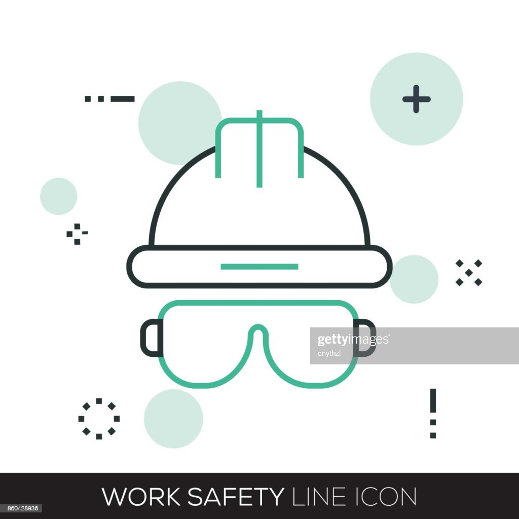 WORK SAFETY LINE ICON : stock illustration