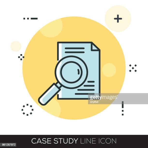 CASE STUDY LINE ICON