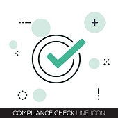 COMPLIANCE CHECK LINE ICON