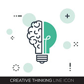 CREATIVE THINKING LINE ICON