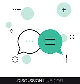 DISCUSSION LINE ICON