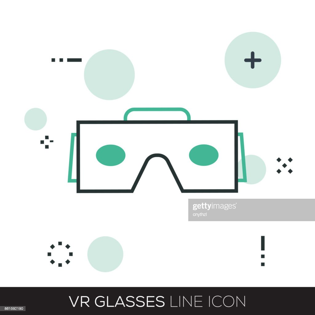 VIRTUAL REALITY LINE ICON : stock illustration