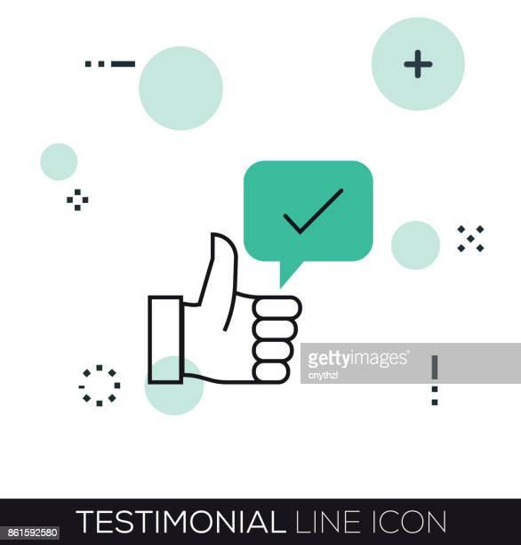 testimonial line icon - testimonial stock illustrations, clip art, cartoons, & icons