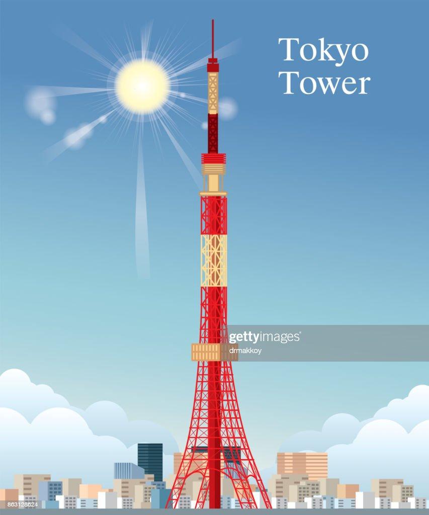 TOKYO TOWER : stock illustration