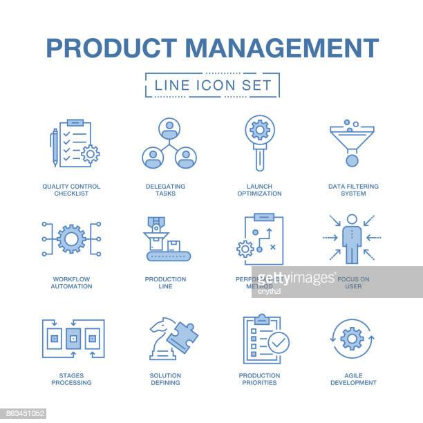 PRODUCT MANAGEMENT LINE ICONS SET