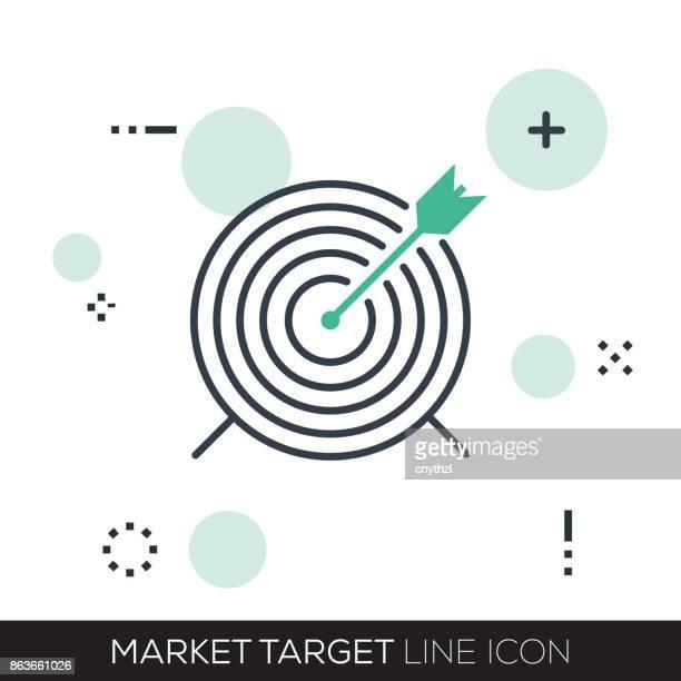market target line icon - focus stock illustrations