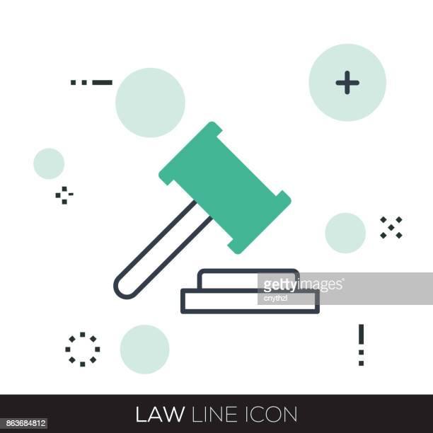 law line icon - criação digital stock illustrations