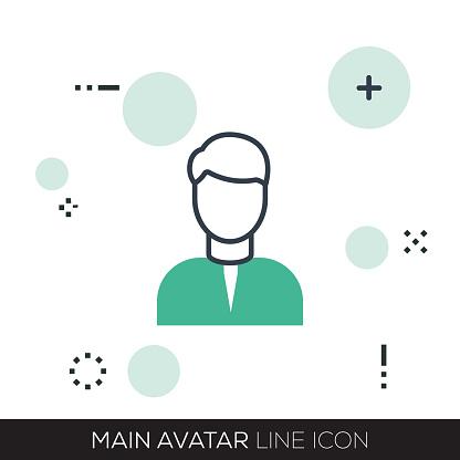 MAIN AVATAR LINE ICON - gettyimageskorea