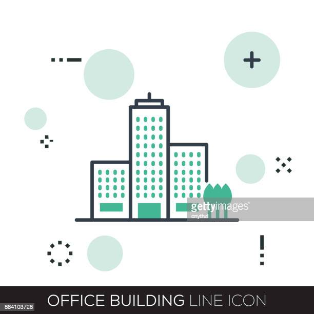 OFFICE BUILDING LINE ICON
