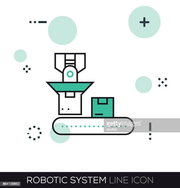 ROBOTIC SYSTEM LINE ICON