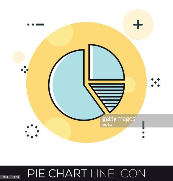 PIE CHART LINE ICON