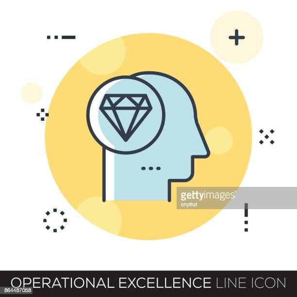 operational excellence line icon - philosophy stock illustrations