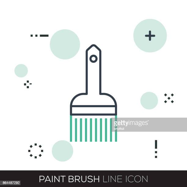 PAINT BRUSH LINE ICON