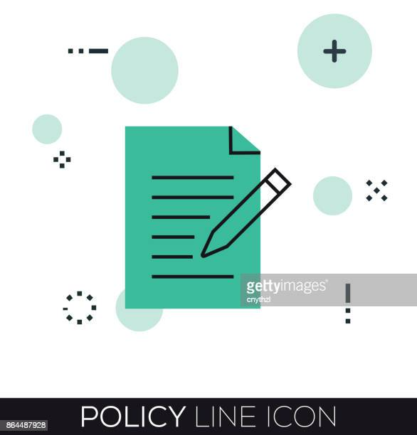 POLICY LINE ICON