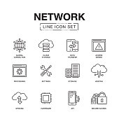 NETWORK LINE ICONS