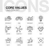 CORE VALUES LINE ICONS