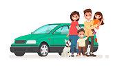 семья с автомобилем