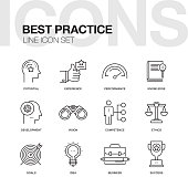 BEST PRACTICE LINE ICON SET