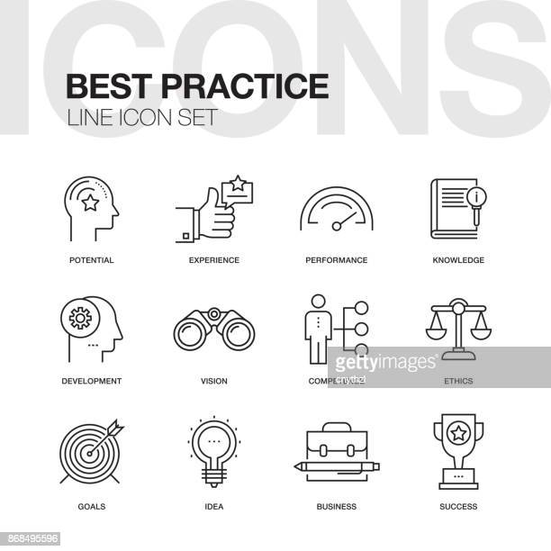BEST PRACTICE LINE ICON SET