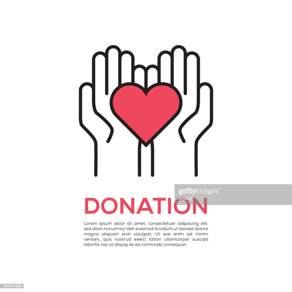 DONATION CONCEPT : Stock Illustration