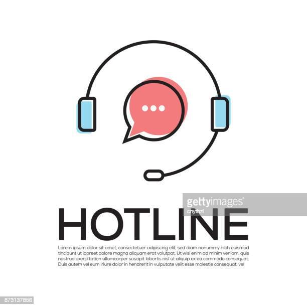 hotline concept - assistant stock illustrations, clip art, cartoons, & icons
