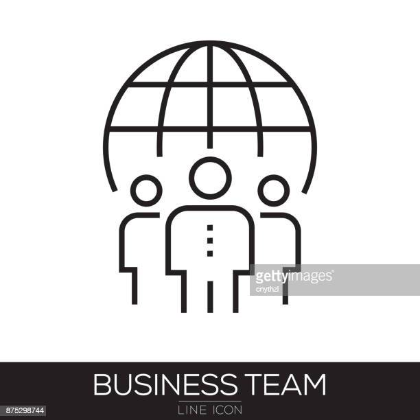 BUSINESS TEAM LINE ICON