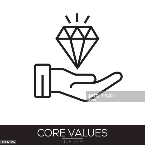 CORE VALUES LINE ICON